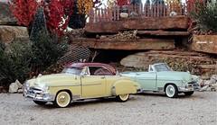 1950 Chevrolet Styleline Deluxe Bel Air Hardtop & Styleline Deluxe Convertible (JCarnutz) Tags: 124scale diecast franklinmint 1950 chevrolet styleline belair