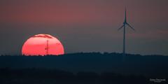 Sunset (Zaphod Beeblebrox 1970) Tags: ruhrgebiet spring deutschland landscape sunset sonne sonnenuntergang sundown nrw meininghausen clouds sun windrad windmill en voerde ennepetal germany