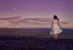Self-Portrait, Iceland 2017 (amanecer334) Tags: nature landscape fineart art artistic selfportrait myself me melancholy one lonely loneliness alone person girl woman dress magic moon sky purple mountains iceland icelandic fantasy female magical portrait silhuette silence expressive sensitive sentimental nostalgic romantic peaceful brunette natural travel clouds scandinavia outdoors