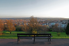Brandon Hill (Ilenia Miccichè) Tags: bristol banksy harbourside brandonhill cabottower england uk greatbritain collegegreen wellhunglover bench skins nature park green canon canoneos clouds weather 2017 february april sunset