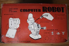 Computer Robot Box Side (Bandai 1960's) (Donald Deveau) Tags: box instructions toys vintagetoy sciencefiction robot computer japanesetoy batteryoperated bandai