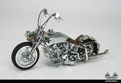 Harley Davidson Softail Heritage Custom, in Lego 1:10 (bricksonwheels) Tags: bricksonwheels legoharleydavidson chrome bricks4all scalemodelersassociation glaasker