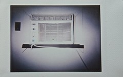 The Air Conditioner in Cabin 4 (ricko) Tags: airconditioner cabin4 rainbowsendresort photoofaphoto lomoinstant fujifilminstax mini roidweek spring 2017