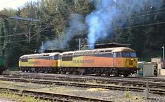 56087 & 56078 at Ipswich Freightliner Fuel Line. 19 04 2017 (pnb511) Tags: trains railway ipswich greateasternmainline geml colas rail freight class56 loco locomotive diesel grid clag