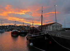 Arbroath harbour (alan.irons) Tags: boats fishing harbour arbroath angus eastcoast sea trawlermen trawlers coastal morn sunrise cloudsstormssunsetssunrises port haven calm atmospheric canoneos1dxmkll daybreak dawn reflections scotland ecosse uk