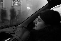 IMG_8546 (eugeniointernullo) Tags: car auto blackwhite biancoenero her lei rain pioggia profile profilo people persone