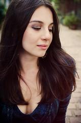Kristina Nikitina (Matthew Thompson Photography) Tags: england sexy london girl beauty 35mm hair skin wind matthew f14 kristina sigma flowing cleavage cobbles thompson flawless alienskin nikitina