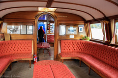 First Class Salon, SY Gondola (AnnMelanie) Tags: uk england bw lakes engine cumbria gondola nationaltrust railways coniston windermere steampower sygondola lakedristrict