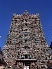 West Gopuram(Tower gate) of Meenakshi Amman Temple