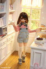 DOLCI DESSERT (Keera) Tags: scale cake shop barbie pullip blythe diorama dollhouse momoko pasteleria shabbyshic pureneemo