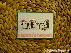 # Santa's Helpers1 (fridayfinally) Tags: holiday penguin handmadecard santashelpers mamaelephant