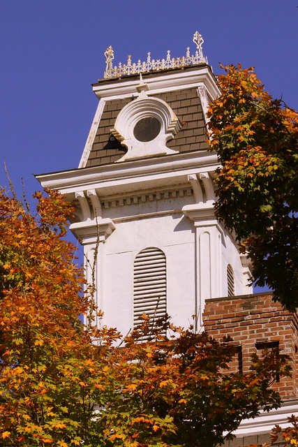 Smith County Courthouse Tower in Autumn - Carthage, TN