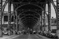 Riverside Drive Viaduct (JB_1984) Tags: nyc newyorkcity bridge blackandwhite bw usa ny newyork mono arch unitedstates harlem manhattan steel viaduct 12thavenue riversidedriveviaduct