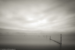 Markermeer in mono (Shots in the dark) Tags: longexposure lake monochrome sticks atmosphere serene nets