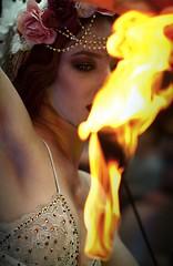 Katrina (PierrEmmanuel) Tags: tattoo ginger vampire redhead performer paleskin londontattooconvention firebreath fuelgirls redhairmodel tattooedmodel