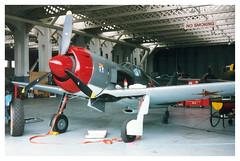 Lavochkin La-9 G-BWUD OFMC Spitfire Day Duxford 15-06-03 (Richard.Crockett 64) Tags: 2003 fighter airshow soviet duxford cambridgeshire imperialwarmuseum la9 markhanna rayhanna ofmc oldflyingmachinecompany lavochkin russianairforce zklix spitfireday