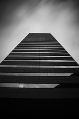 High As A Kite (mac_prv) Tags: longexposure blackandwhite bw motion building blancoynegro clouds downtown edificio houston filter nd