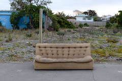 Couch (stephen trinder) Tags: old newzealand christchurch landscape waiting seat oldschool busstop used couch nz rest discarded seating kiwi comfort chill newbrighton chillout dumped settee christchurchnewzealand stephentrinder stephentrinderphotography
