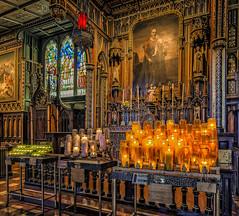 Inside Basilica Notre-Dame of Montreal (Jonybraker) Tags: light church french catholic candle christ quebec montreal basilica faith religion gothic notredame canad basilique