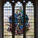 Stained glass window, St Margaret's church, Hothfield, Kent