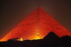 Great Pyramid of Giza at night