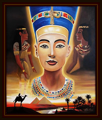 Nofretete (LOMO56) Tags: kunst nefertiti nofretete gemälde ölgemälde echnaton amenophisiv acrylgemälde ägyptischekunst