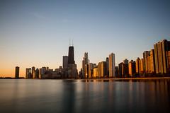 Sunbeams received (aerojad) Tags: chicago skyline sunrise bestof lakemichigan chicagoist