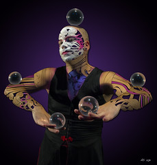 Ati Contact Juggling (Ati Sphere) Tags: show festival circus juggling juggler mapping videomapping