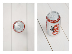 Diet Coke (anthonyharle.com) Tags: wood light red white detail silver studio nikon bright details flash 85mm coke can dietcoke diet f18 18 product cokecan d7000 nikond7000