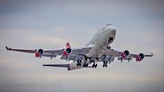 "G-VXLG ""Ruby Tuesday"", Boeing 747-400, Virgin Atlantic, EGKK/LGW Edit2 (Vinxcentius Images) Tags: flying airport aviation atlantic virgin 400 transportation tuesday boeing ruby 747 gatwick lgw egkk"