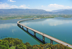 Greece, Macedonia,  The Curved Bridge over the lake of Polifitos (image purchased by Carpenter Group NY) (Macedonia Travel & News) Tags: macedonia west ancient culture vergina sun florina hellenic republic mavrovo nato eu fifa uefa un fiba greecemacedonia macedonianstar verginasun aegeansea 558129 macedoniagreece makedonia timeless macedonian macédoine mazedonien μακεδονια македонија travel prilep tetovo bitola kumanovo veles gostivar strumica stip struga negotino kavadarsi gevgelija skopje debar matka ohrid heraclea lyncestis macedoniatimeless