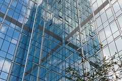Croix grise (Hecq A.) Tags: blue windows brussels abstract reflection building facade grey cross belgium sony sigma 28 croix 30mm grise a6000