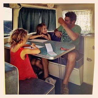 365/293 • M is back! • #2014_ig_293 #4yo #6yo #m #Castlemaine #caravan #gothim