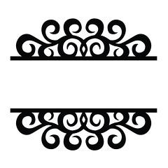 split-swirl-flourish (emily dyer) Tags: silhouette svg papercut diecut