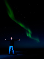 Aurora-Selfie (Larsenio) Tags: light portrait people selfportrait playing green face norway portraits norge skies pentax earth north norwegen arctic norwegian explore selftaught aurora portraiture nordic polar northern playful auroraborealis norvege portrett selfie andenes andya norsk nordland ansikt northernlight andy northernnorway skyporn nordnorsk pentaxk5
