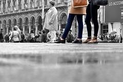 Rasoterra (GiorgioV12) Tags: street white black milan feet girl photography shoes legs candid milano dome duomo bianco nero