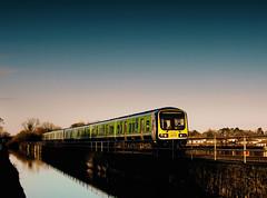 Evening Commuter (2c..) Tags: railroad bridge ireland light sky irish colour water evening canal © rail railway rye viaduct valley co commuter 2c kildare dmu leixlip 2900 2cireland