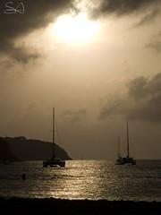 backlit bay (Steve Antalics) Tags: travel olympus lucia tropic caribbean e500