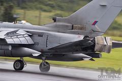 RAF Panavia Tornado GR4 'Business End' (Tom Catterall) Tags: wet tattoo tom canon photo thomas aircraft aviation air royal international engines reverse tornado runway raf 2012 riat thrusters panavia gr4 gr4a catterall 60d