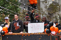 2014 World Series Parade (evie22) Tags: sf sanfrancisco party sports rain canon team baseball champs confetti parade celebration jesuslovesyou sfgiants giants marketstreet celebrate champions partay worldseries worldseriesparade mlb sanfranciscogiants marketst beisbol 2014 giantsbaseball worldchampions postseason attpark worldseriesring busterposey canonef70200mmf28lusmis orangeoctober giantsnation canon40d santiagocasilla giantspride mvposey togetherweregiant