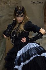 Davinia (jlhuys farfan) Tags: girl model chica negro modelo rubia guerrera davinia gotica antifaz farfan