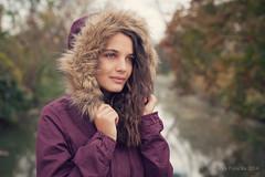 Sandy, November 2014 (biely vlk) Tags: she november autumn portrait fall nature girl beauty river eyes colours lips jacket emotive canoneos5dmarkii