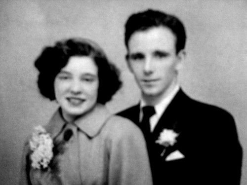 Robert and Martha Bell Wedding Day 1950s