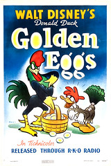 Golden Eggs (1941) (Tom Simpson) Tags: film illustration vintage movie design cock disney movieposter eggs rooster donaldduck 1941 posterart goldenegg goldeneggs