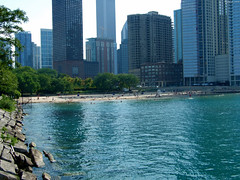 "Patch of Beach by Navy Pier • <a style=""font-size:0.8em;"" href=""http://www.flickr.com/photos/34843984@N07/15547879232/"" target=""_blank"">View on Flickr</a>"