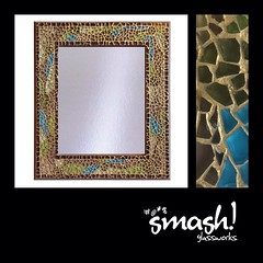 """Smash"" Mosaic Mirror http://goo.gl/k2LHlC (smashglassworks) Tags: mirror oneofakind interiordesign homedecor glassart mosaicmirror temperedglass decorativemirror designerhousewares smashglassworks"
