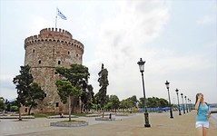 Macedonia, Thessaloniki, lonely girl at the White Tower, Greece #acedonia (Macedonia Travel) Tags: sun history greek ancient republic fifa great culture eu greece un macedonia ohrid thessaloniki alexander philip uefa nato stip matka gostivar skopje macedon macedonian mavrovo prilep fiba aegeansea bitola vergina gevgelija struga veles strumica heraclea debar kumanovo tetovo greecemacedonia negotino lyncestis verginasun macedonianstar kavadarsi macedoniablog 26352093n