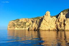Ibiza. iPhone 5S (CatMilton) Tags: espaa cliff seascape reflection coast spain mediterranean ibiza buff eivissa baleares iphone balearics