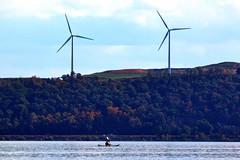 Susquehanna River (WabbyTwaxx) Tags: turkey river kayak wind hill windmills susquehanna turbines