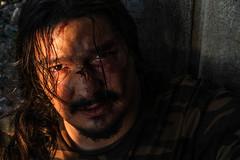 le ha prese (Valerio Lintozzi) Tags: italy taglio whisky rap botte primopiano sangue fiumicino trucco picchiato videorap
